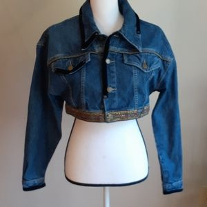 Guess by Marciano Vintage Crop Denim Jacket M